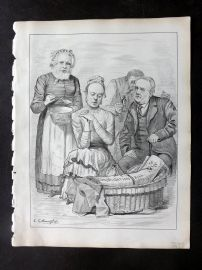E. C. Mountfort - Dart 1880's Political Cartoon. Consolidation Bill